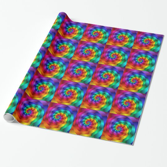 Rainbow Spirals Gift Wrapping Paper