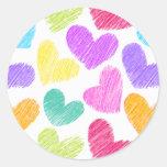 Rainbow spirals Sticker