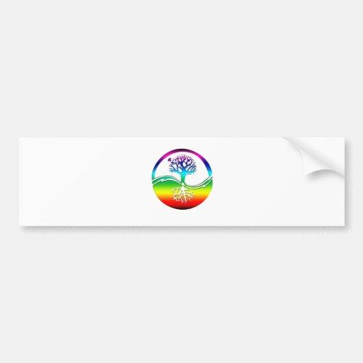 Rainbow Spirit Tree (Balance) Bumper Sticker