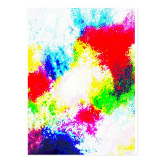 Rainbow Splats Postcard