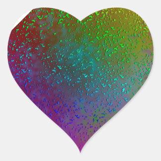 Rainbow Splatter Digital Art Design Heart Sticker