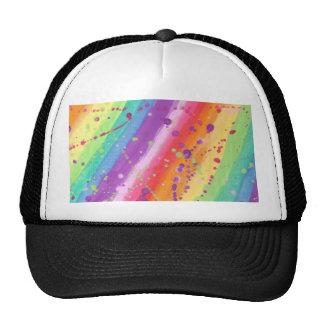 Rainbow Splatter Mesh Hats