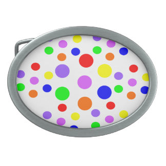 Rainbow Spots Belt Buckle