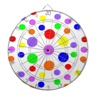 Rainbow Spots Dart Board