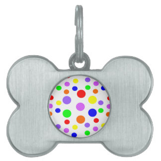 Rainbow Spots Pet Tag