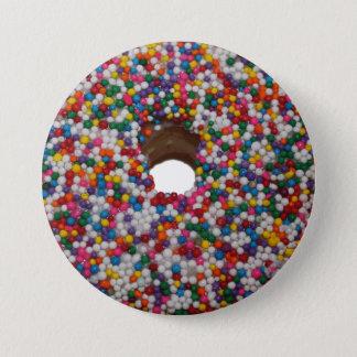 Rainbow Sprinkle Doughnut Button