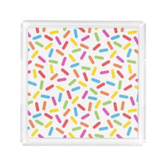 Rainbow Sprinkles Acrylic Tray