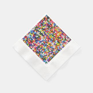 Rainbow sprinkles disposable napkins