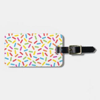 Rainbow Sprinkles Luggage Tag