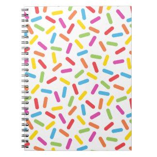 Rainbow Sprinkles Notebooks