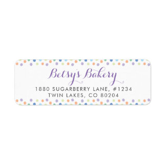 Rainbow Sprinkles Return Address Label