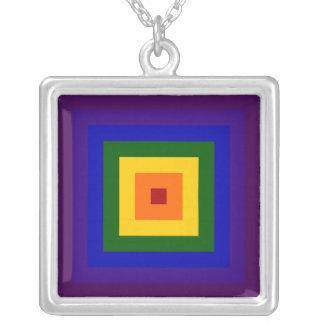 Rainbow Square Custom Jewelry