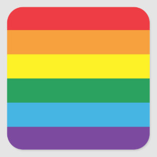 Rainbow Square Sticker