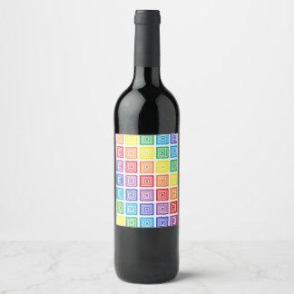 Rainbow Squared Wine Label