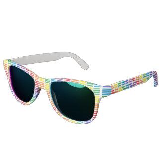 Rainbow Squares and Stripes Sunglasses