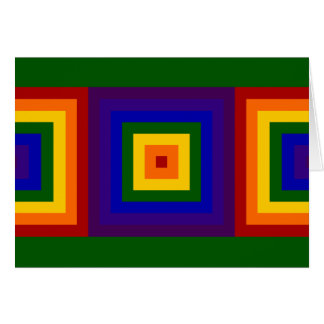 Rainbow Squares Birthday Card