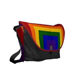 Rainbow Squares Commuter Bag