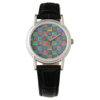 Rainbow Squares Fashion Watch by Julie Everhart