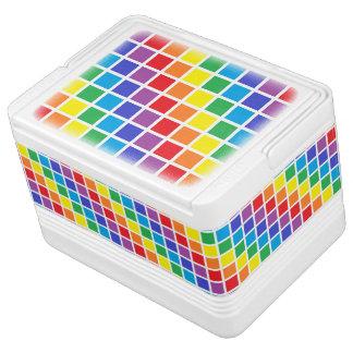Rainbow Squares Igloo Cooler