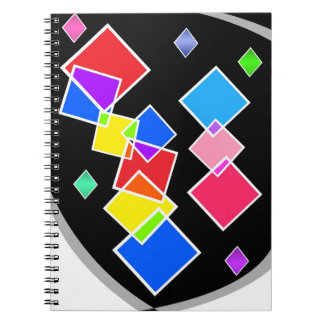 Rainbow Squares Notebook