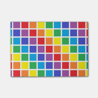 Rainbow Squares Post-it Notes