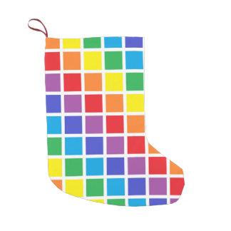 Rainbow Squares Small Christmas Stocking