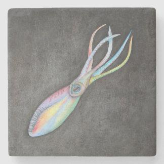 Rainbow Squid Stone Coaster