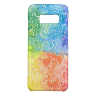 Rainbow Squiggle Watercolour Case-Mate Samsung Galaxy S8 Case