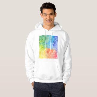 Rainbow Squiggle Watercolour Hoodie