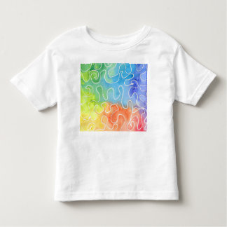 Rainbow Squiggle Watercolour Toddler T-Shirt