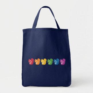 Rainbow Squirrels Tote Bag