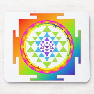 Rainbow Sri Yantra Mouse Pad