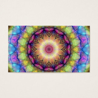 Rainbow stained Glass Business Card