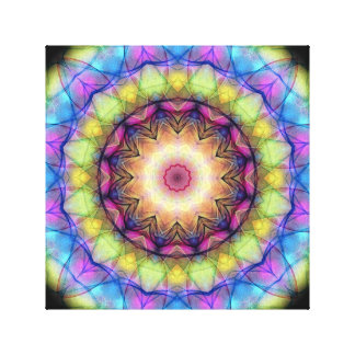 Rainbow stained Glass Canvas Print