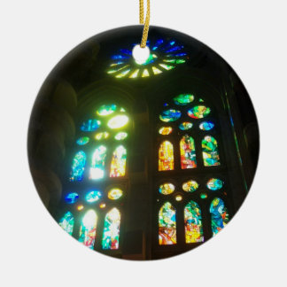Rainbow Stained Glass Christmas Ornament