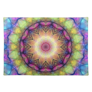 rainbow stained glass place mat