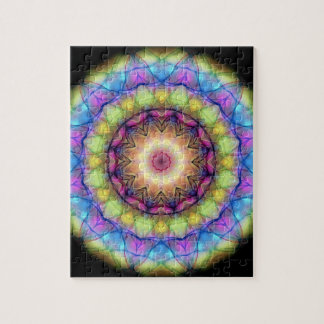 Rainbow stained Glass Jigsaw Puzzle