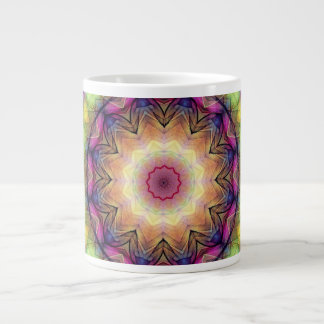 Rainbow stained Glass Large Coffee Mug