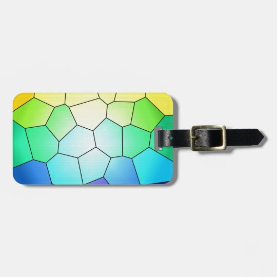 Rainbow Stained Glass to Customise Luggage Tag