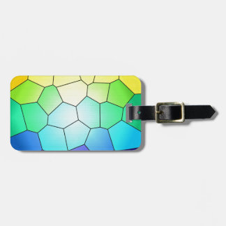 Rainbow Stained Glass to Customize Luggage Tag