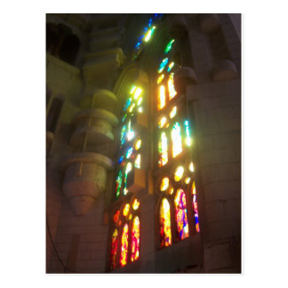 Rainbow Stained Glass Windows Postcard
