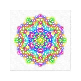 "Rainbow Star 12"" x 12"", 1.5"", Single Stretched Canvas Print"