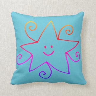 Rainbow star cushion