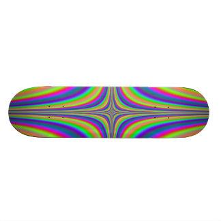 Rainbow Star Fractal 2 Skateboard