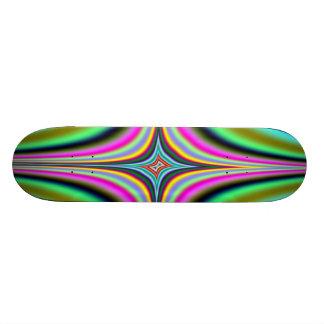 Rainbow Star Fractal Skateboard