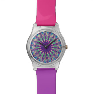 Rainbow Star Fractal Tie-Dye Watch