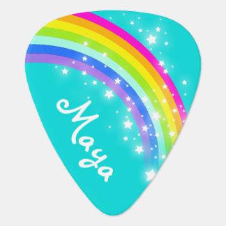 Rainbow star girls aqua customized guitar pick