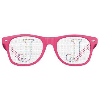 Rainbow Star Letter J Retro Sunglasses