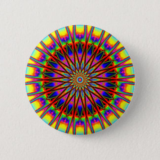 Rainbow Star Mandala 6 Cm Round Badge