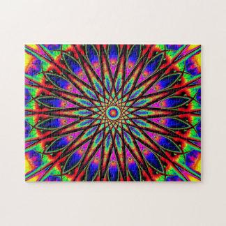Rainbow Star Mandala   Relaxation Puzzle